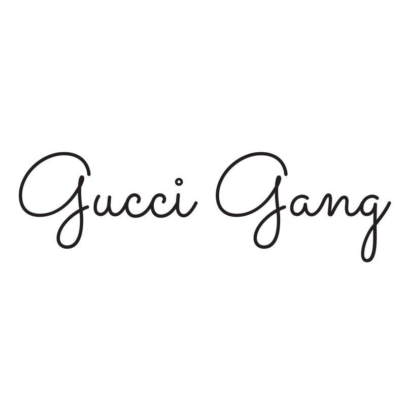 Gucci Gang Temporary Tatoo Design. Tags: Text, Minimal, , , Unisex, Black and White, New