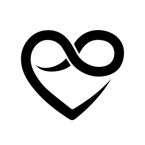 Infinite Love Temporary Tatoo Design. Tags: Abstract, Minimal, , , Unisex, Black and White, New