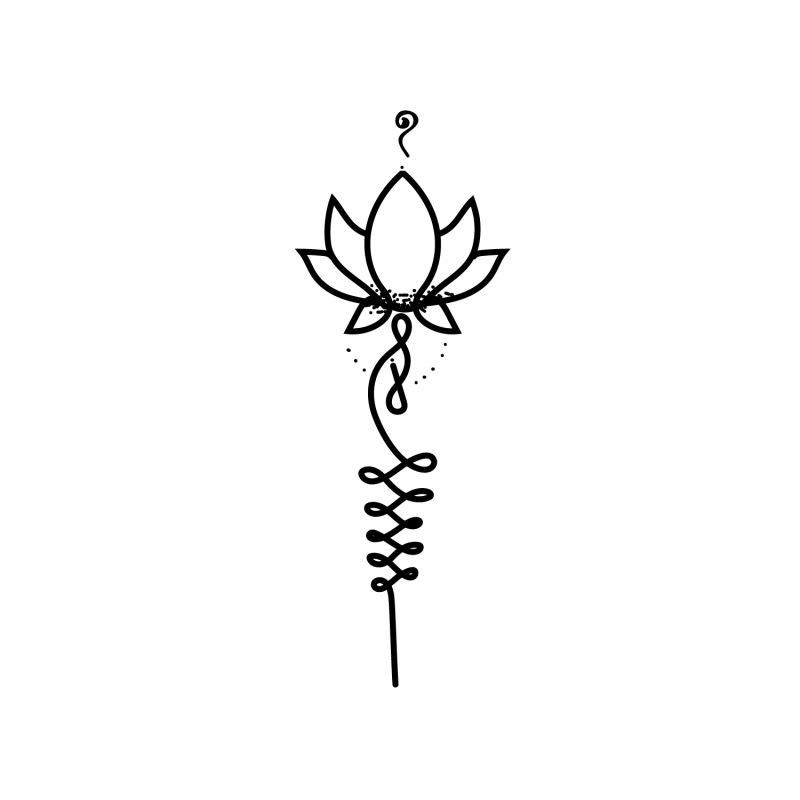 Lotus Flower Temporary Tatoo Design. Tags: Abstract, Flowers, , , Unisex, Black and White, New