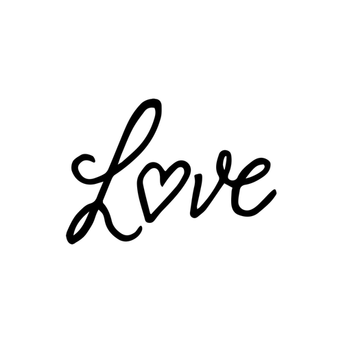 Love Cursive Temporary Tatoo Design. Tags: Text, Slogans, Cursive, , Womens, Black and White, New