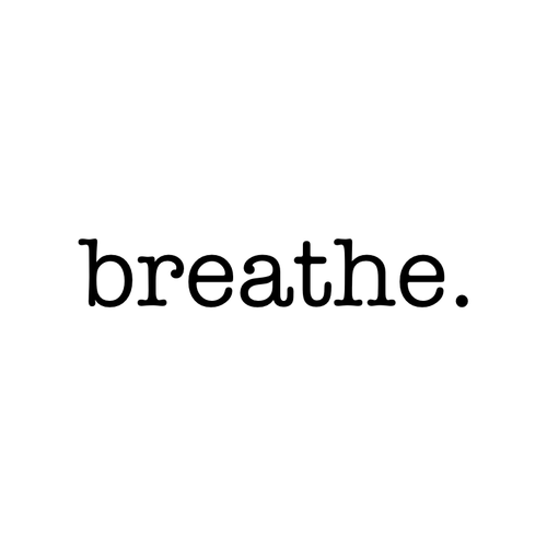 Breathe. Temporary Tatoo Design. Tags: Text, Slogans, , , Unisex, Black and White, New