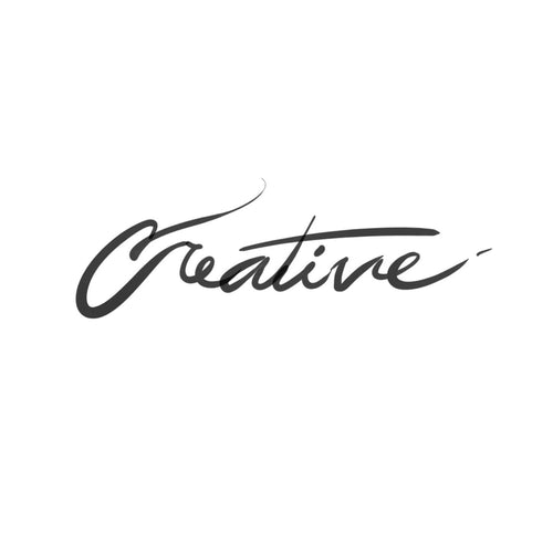 Creative Cursive Temporary Tatoo Design. Tags: Text, Cursive, Black and White,