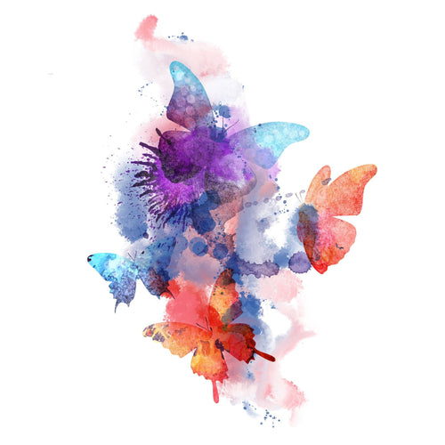 Butterfly Spring Temporary Tatoo Design. Tags: Color, Watercolor, Animals, Abstract