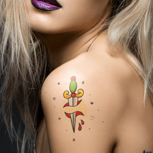 Dagger Temporary Tattoo