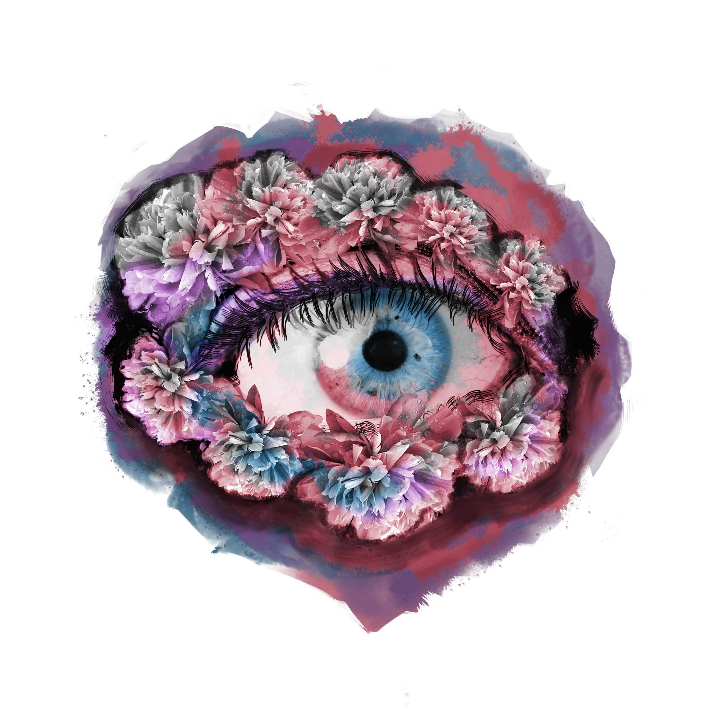 Abstract Eye of Flower Design InkDaze_JoseBorromeo