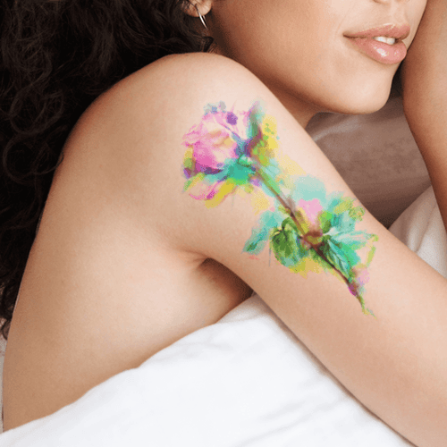 Floral Life Temporary Tattoo