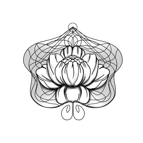 Floralite Temporary Tatoo Design. Tags: Patterns, Black and White, Geometric, Nature