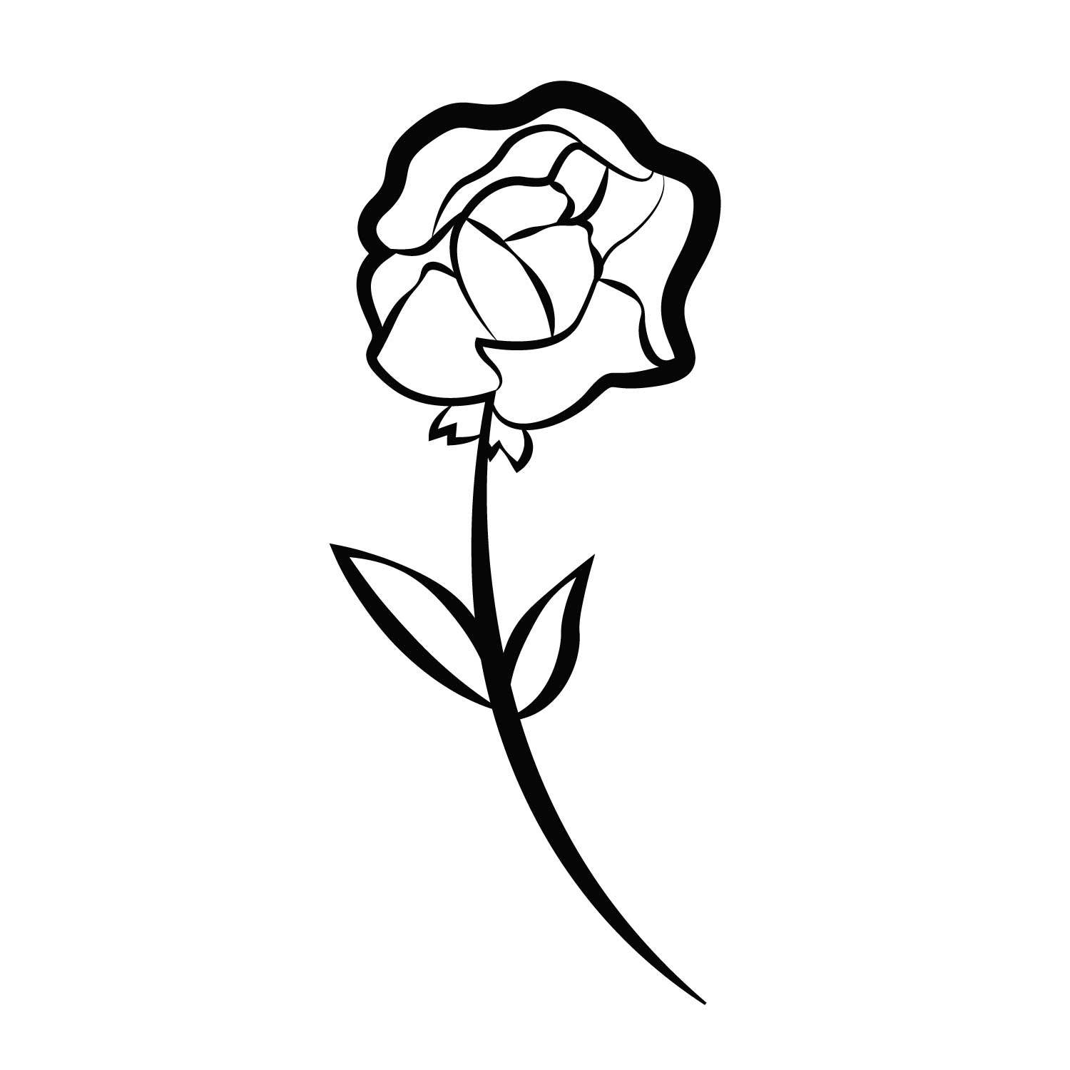 Flower Temporary Tatoo Design. Tags: Minimal, Black and White, Patterns, Flowers