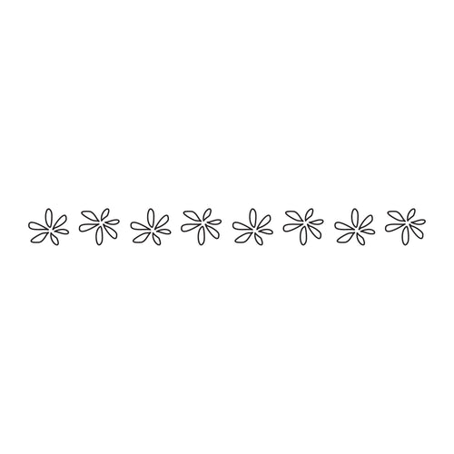 Flowery Repeater Temporary Tatoo Design. Tags: Black and White, Minimal, Traditional, Flowers