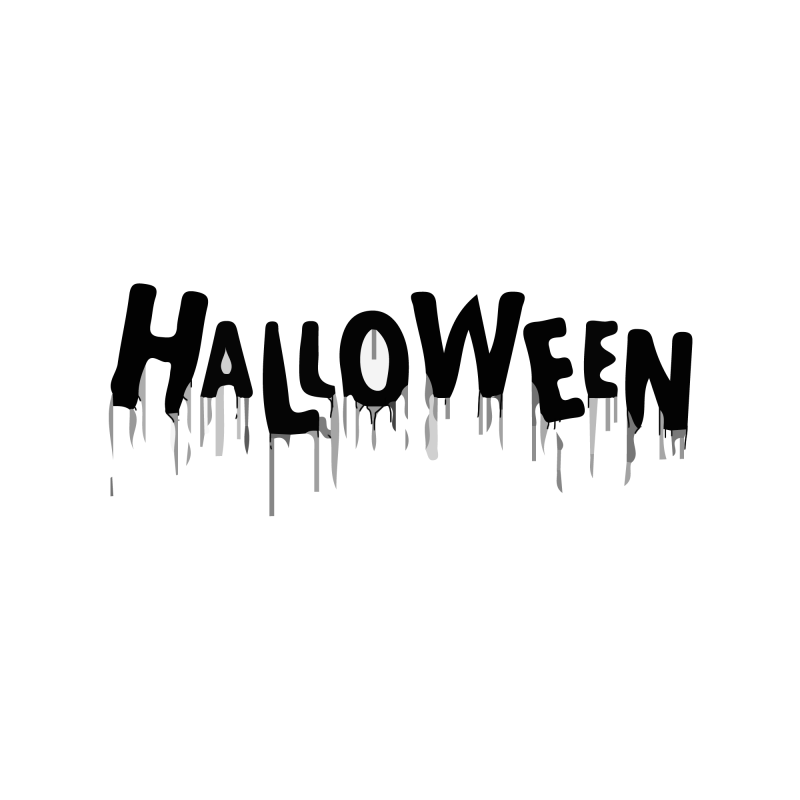 Bloody Halloween Temporary Tatoo Design. Tags: Text, Minimal, Halloween, , Unisex, Black and White, New