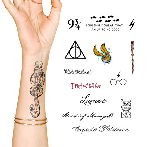 Harry Potter - Death Eater Bonus Pack - Temporary Tattoo