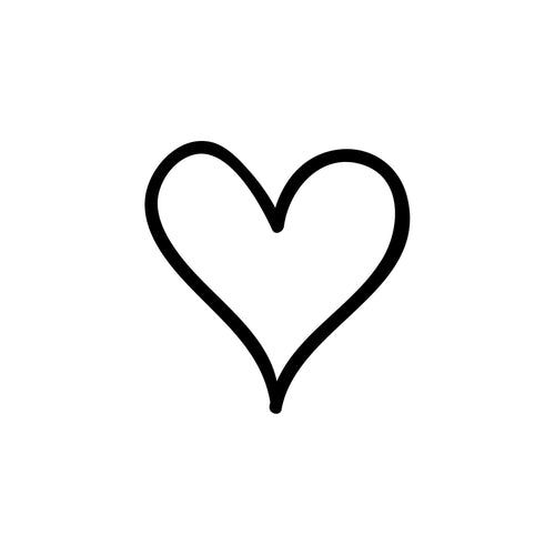 Heart Temporary Tatoo Design. Tags: Black and White, Minimal, Traditional,