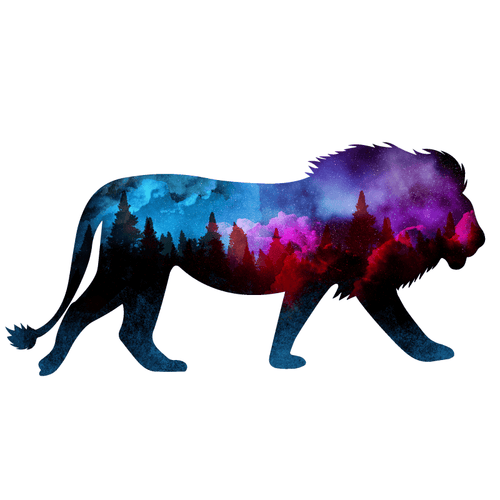 Intersteller Lion Temporary Tatoo Design. Tags: Festival, Animals, , , Unisex, Color, New