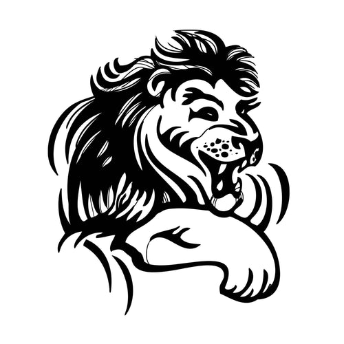 King Mufasa Temporary Tatoo Design. Tags: Animals, Black and White, Abstract,