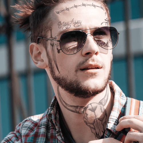 Post Malone Fake Tattoos