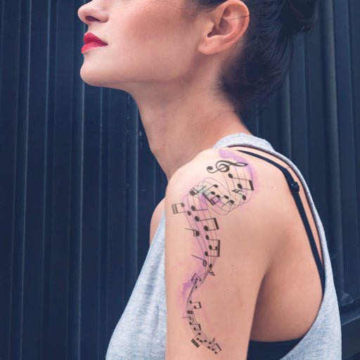 Musical Notes Temporary Tattoo