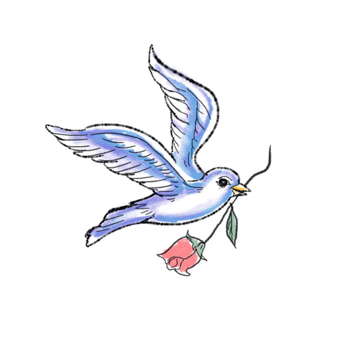 Special Delivery Temporary Tatoo Design. Tags: Animals, Color, Abstract,