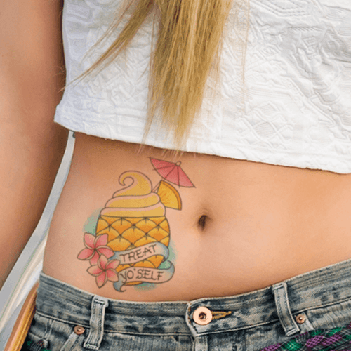 Pineapple Sundae Temporary Tattoo