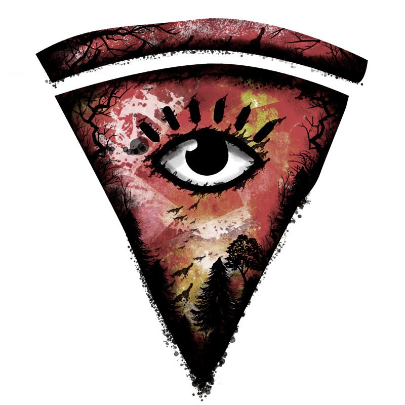 All Seeing Pizza Temporary Tatoo Design. Tags: Festival, Abstract, , , Unisex, Color, New