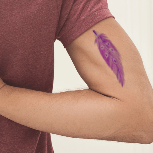 Purple Feather Design InkDaze_JoseBorromeo