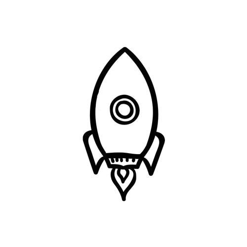 Rocketship Outline Design InkDaze_JoseBorromeo
