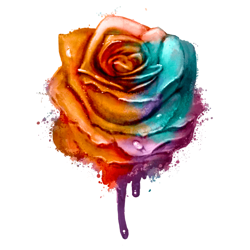Rose Sorbet Temporary Tatoo Design. Tags: Festival, Flowers, , , Womens, Color, New