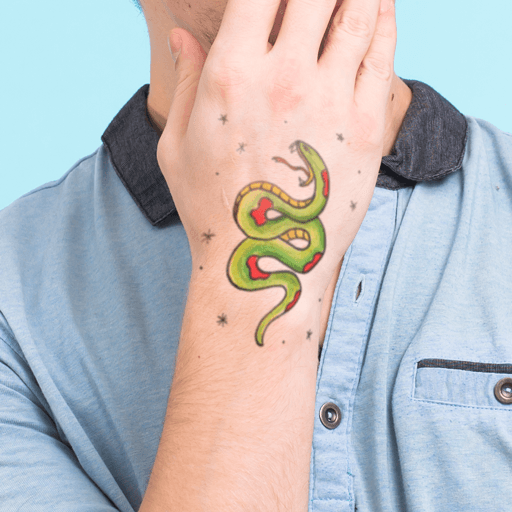 Snake Temporary Tattoo