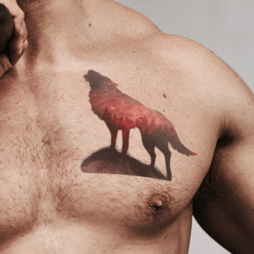 Spirit Wolf Temporary Tattoo