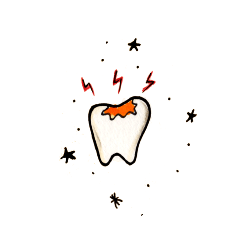 Tooth Ache Temporary Tatoo Design. Tags: Halloween, Traditional, Traditional, , Unisex, Color, New