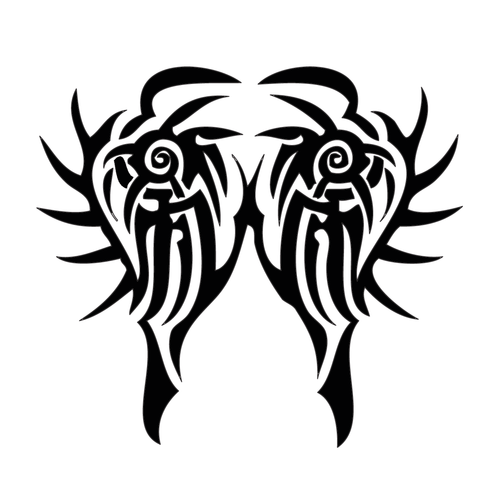 Tribal Zebra Reflection Design InkDaze_JoseBorromeo