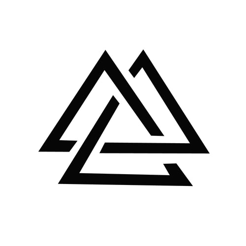 Triple Triangle Temporary Tatoo Design. Tags: Minimal, Black and White, Patterns,