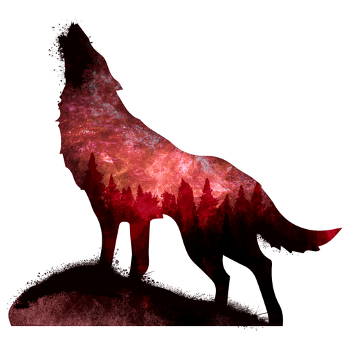 Spirit Wolf Temporary Tatoo Design. Tags: Festival, Animals, , , Unisex, Color, New