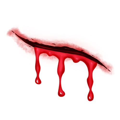 Bleeding Wound Temporary Tatoo Design. Tags: Realistic, People, Halloween, , Unisex, Color, New