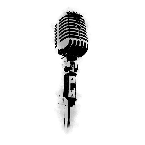 Microphone Black and White Design InkDaze_JoseBorromeo