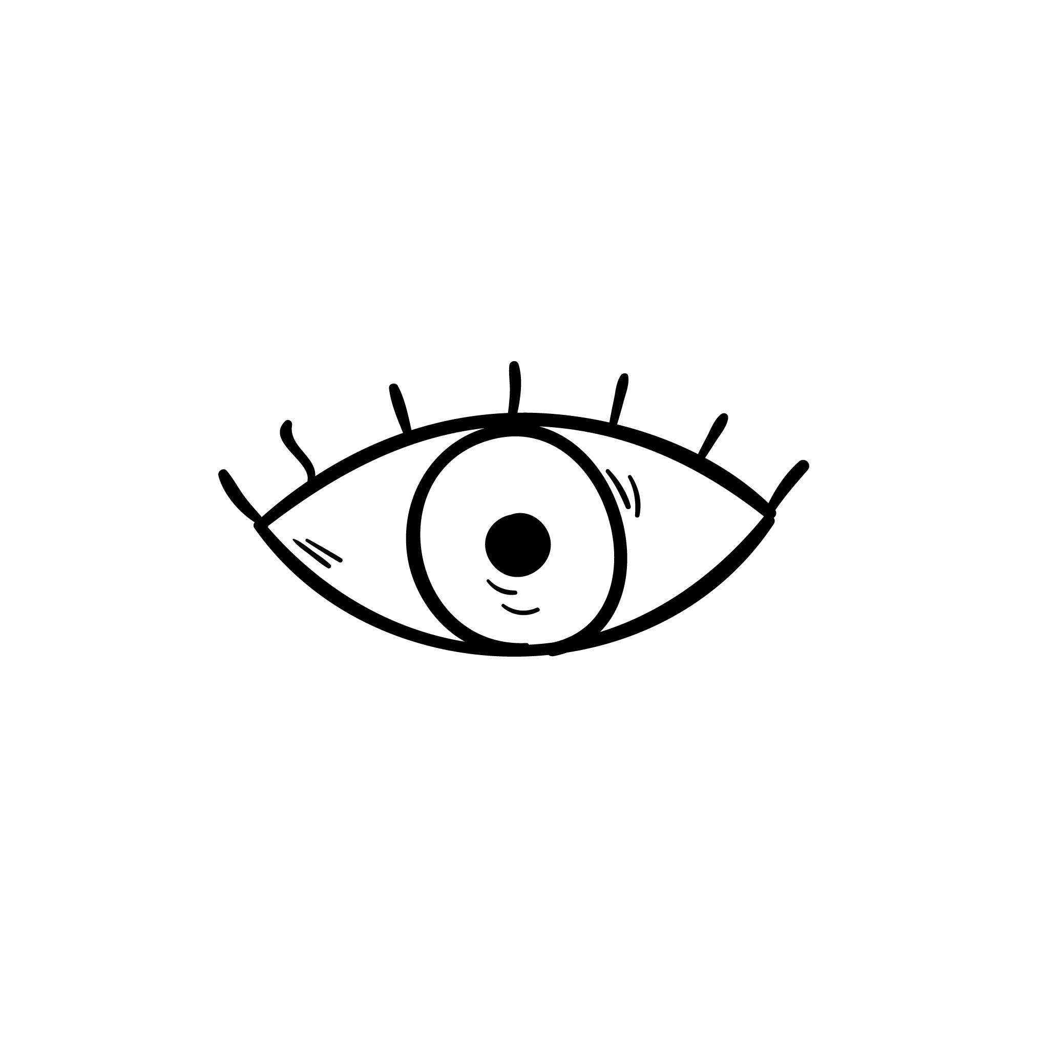 Min_Eye Temporary Tatoo Design. Tags: Minimal, Black and White, People,