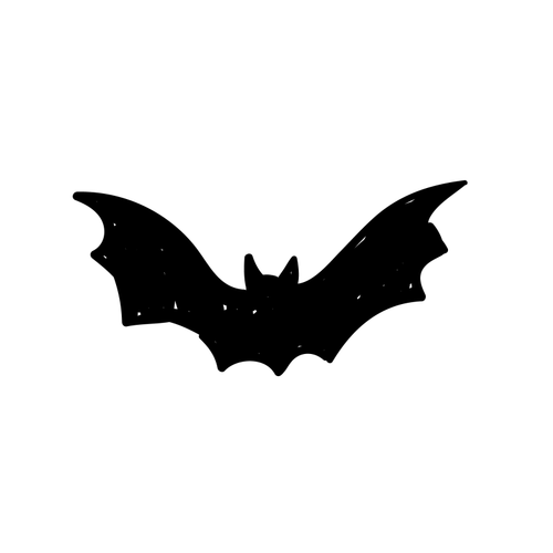 Tiny Bat Temporary Tatoo Design. Tags: Minimal, Abstract, Halloween, , Unisex, Black and White, New