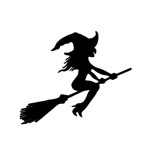 Witch Temporary Tatoo Design. Tags: Minimal, Abstract, Halloween, , Unisex, Black and White, New