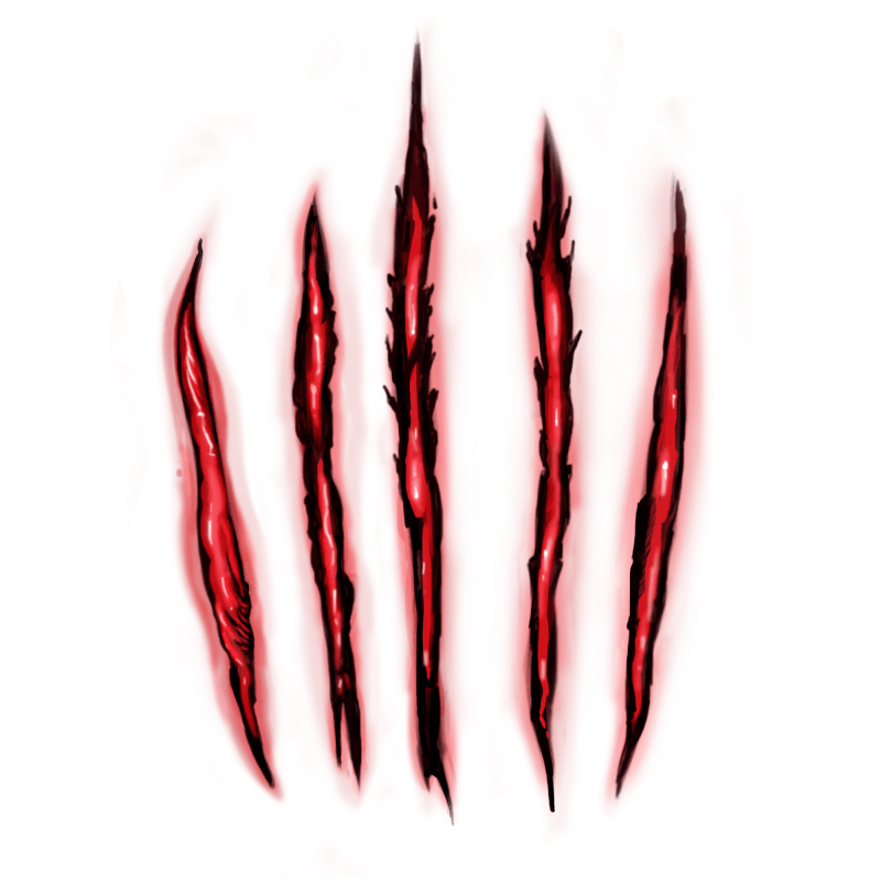 Demonic Scratch Temporary Tatoo Design. Tags: Realistic, Watercolor, Halloween, , Unisex, Color, New