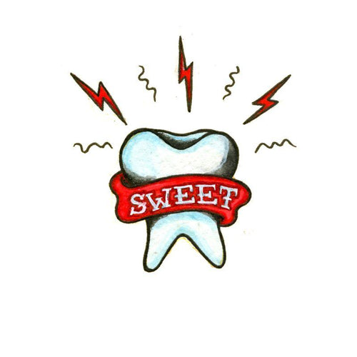 Sweet Tooth Temporary Tatoo Design. Tags: Traditional, Abstract, , , Unisex, Color, New