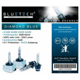 2x BLUETECH® D2S DIAMOND BLUE Xenon Brenner