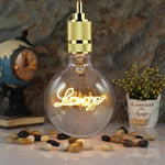 "5"" Vintage Edison Light Bulb- ""LOVE"" LED Filament (G125) Default Title Bulbs TmrwsBig"