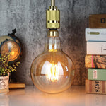"6"" LED Edison Light Bulb (G150)- Squirrel Cage Filament - TmrwsBig"