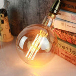 "8"" LED Edison Light Bulb (G200)- Squirrel Cage - TmrwsBig"