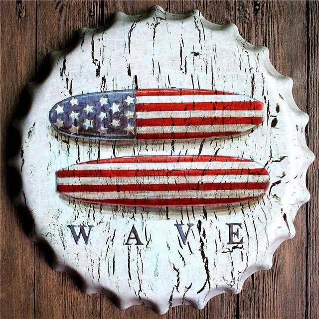 All-American Oversized Bottle Cap Wall Decor - TmrwsBig