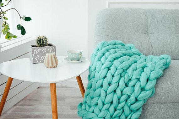 Chunky Merino Wool Blanket- King / Queen Sizes - TmrwsBig