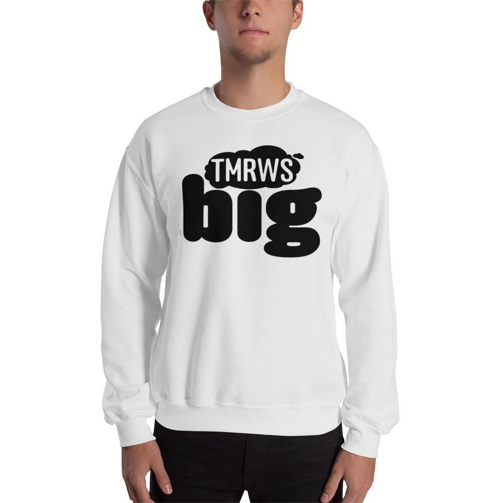 Men's TmrwsBig Official Sweatshirt- Black Lettering White / S Merchandise TmrwsBig
