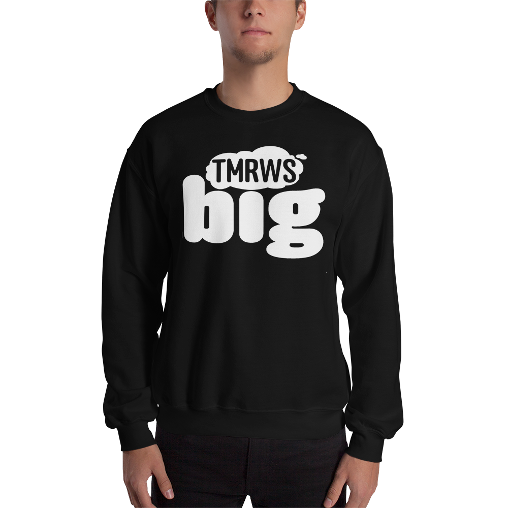Men's TmrwsBig Official Sweatshirt- White Lettering Black / S Merchandise TmrwsBig
