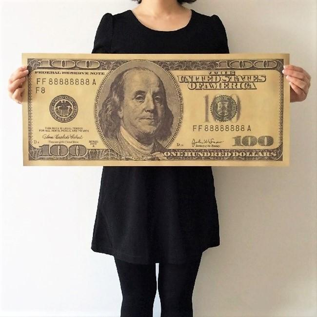 Oversized $100 Bill Poster Big TmrwsBig