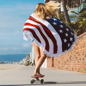 Oversized American Flag Beach Towel / Blanket Default Title TmrwsBig
