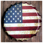 Oversized Decorative Country Flag Bottle Caps USA TmrwsBig